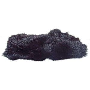 Rus Kalpak (Siyah) Deri-Kumaş-Tekstil Başlık