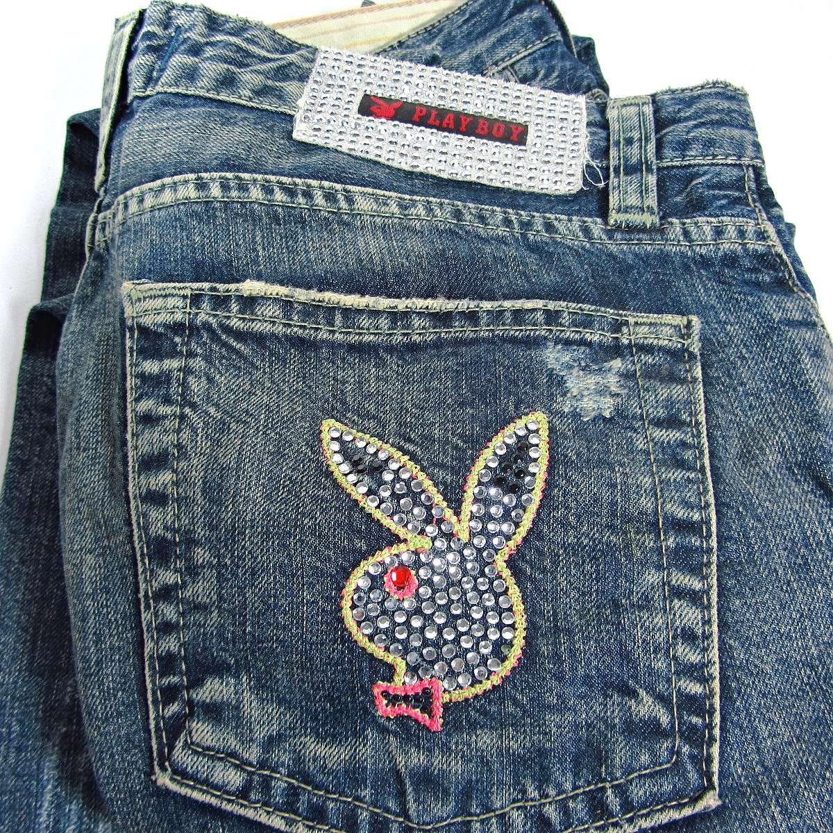 Playboy Blue Jean Deri-Kumaş-Tekstil Blue Jean