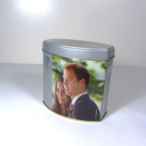 Kraliyet Düğünü Hatırası Çay Kutusu Metal Objeler Çay