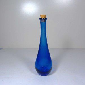 Kobalt Renkli Şişe Cam-Taş Objeler Cam