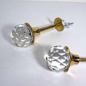 2 Adet Kristal Kol Cam-Taş Objeler Kapı Kolu