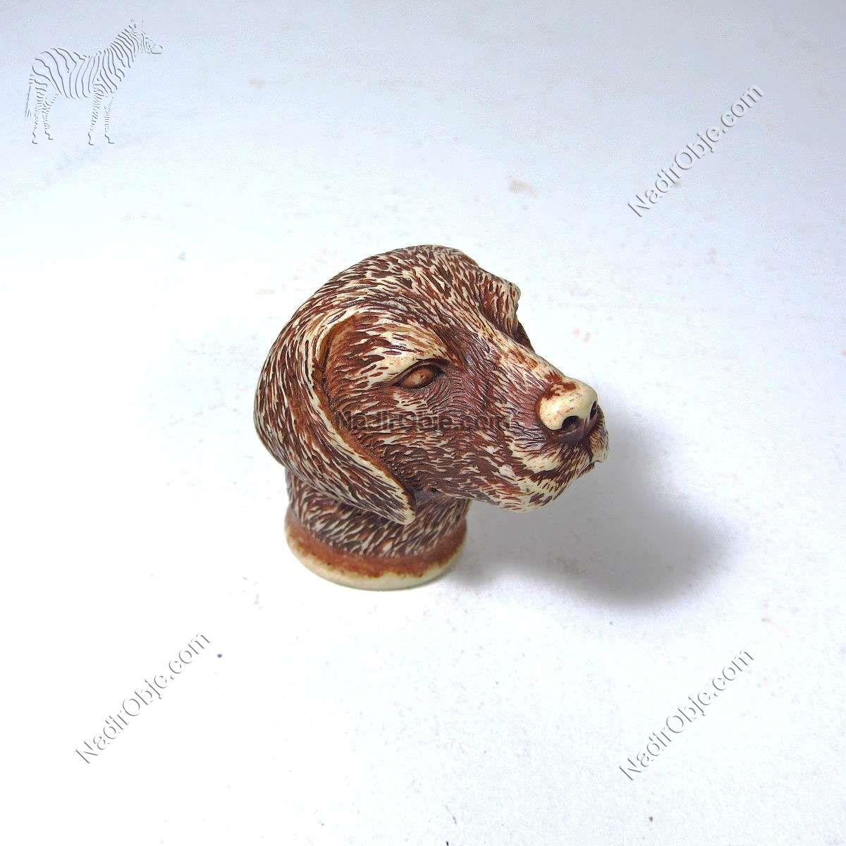 Köpek Baston Başı Plastik-Polyester Objeler Baston