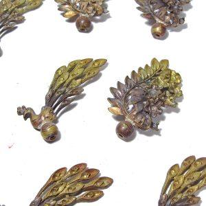 10 Adet Metal Figür Metal Objeler Çiçek