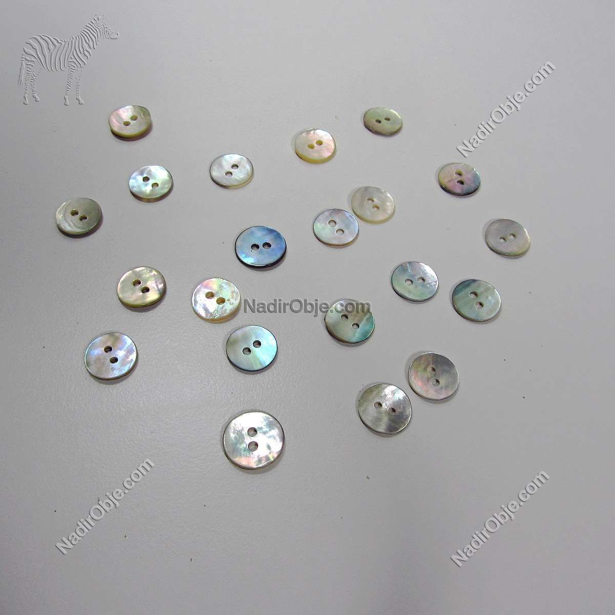Sedef Düğme (12 mm) Cam-Taş Objeler Doğal