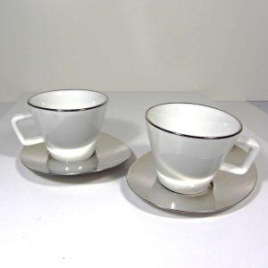 Hisar Porselen Kahve Fincanı Metal Objeler Fincan