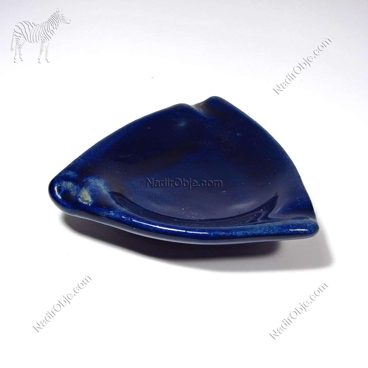Porselen Küllük Seramik-Porselen Objeler Kobalt