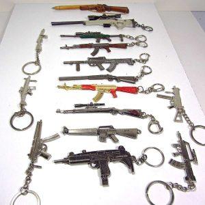 Tüfek Anahtarlık Koleksiyonu Metal Objeler Anahtarlık
