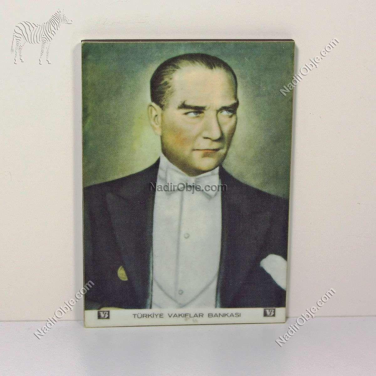 Formika Atatürk Portresi Ahşap Objeler Atatürk