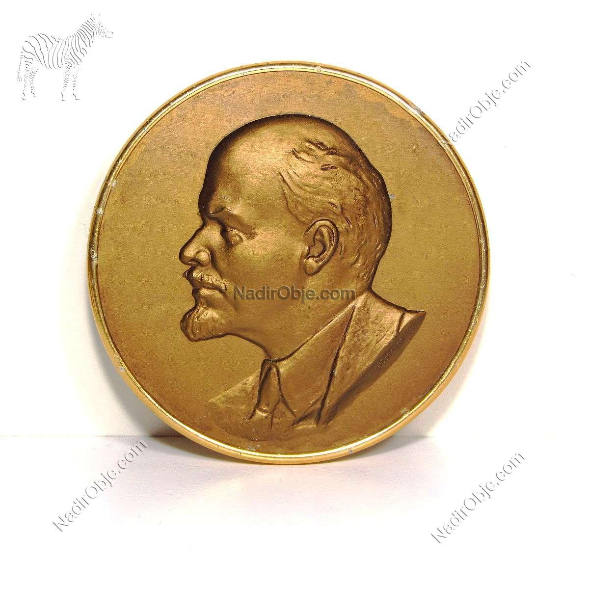 Lenin Portre Metal Objeler Aluminyum