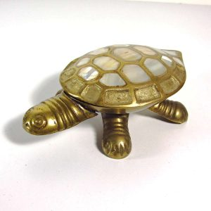 Kaplumbağa Kül Tabağı Metal Objeler Kaplumbağa