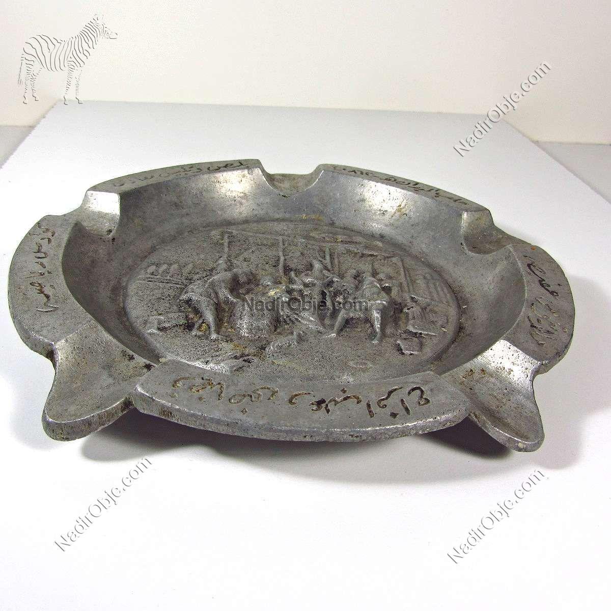 Arapça veya Farsça Yazılı Küllük Metal Objeler Aluminyum