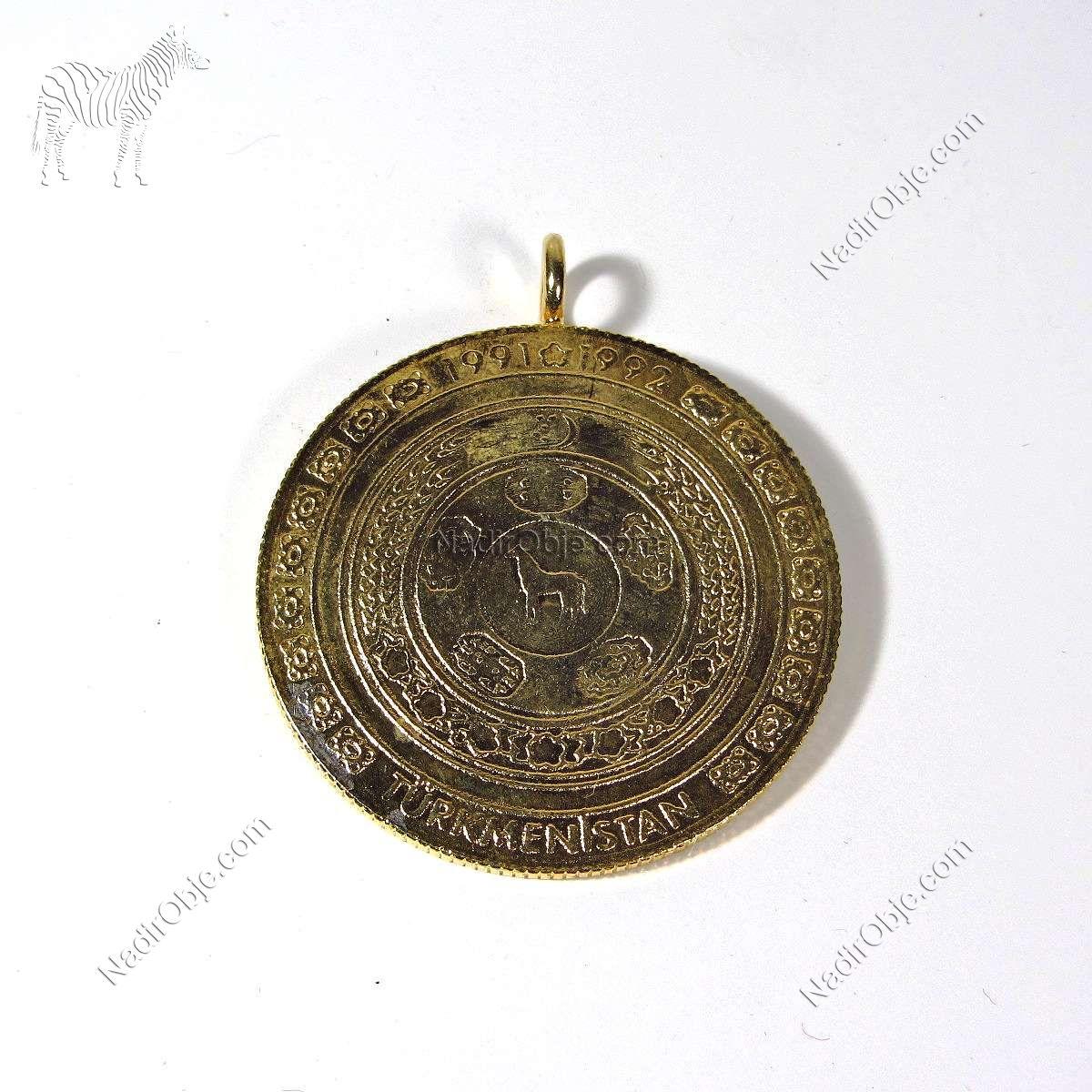 Türkmenistan Hatıra Madalya Diğer Objeler Hatıra