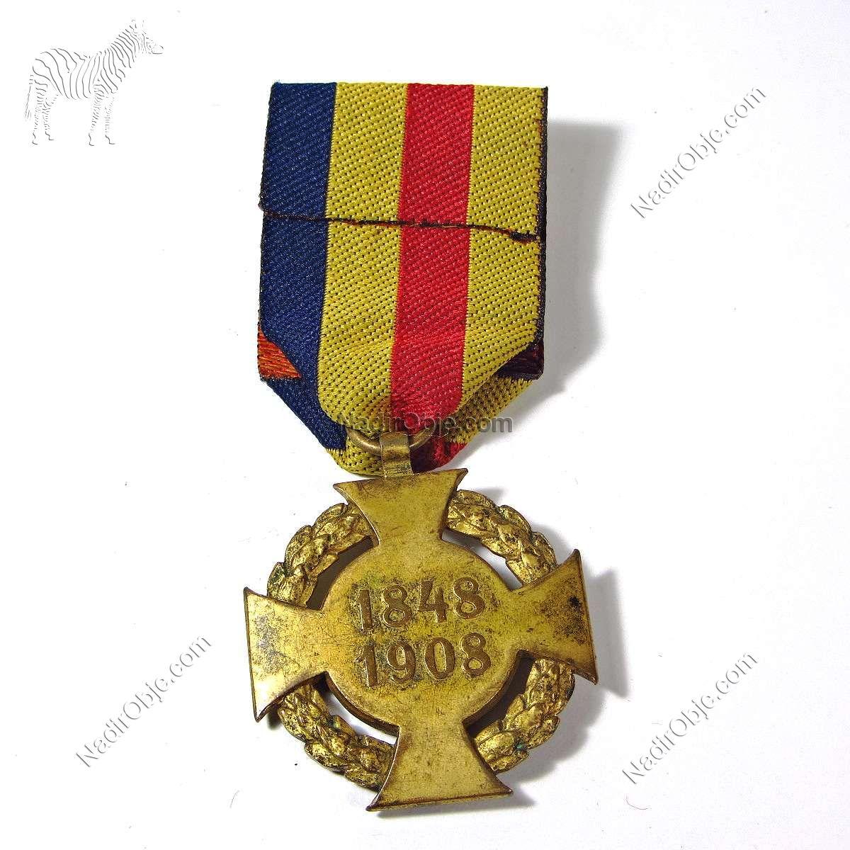 1848-1908 Haçlı Madalya Franc Ios I Diğer Objeler Haç