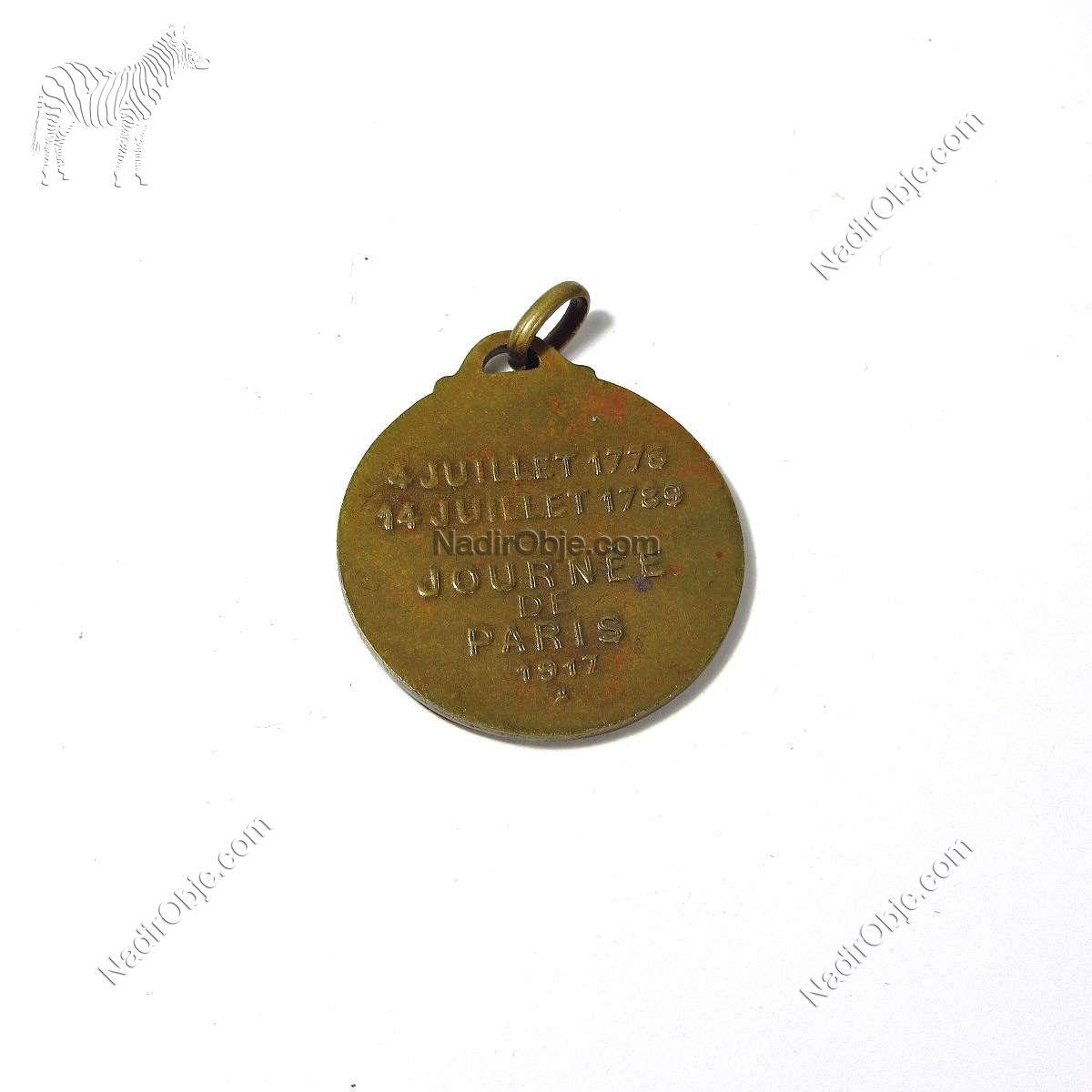 Washington Lafayette Madalya Diğer Objeler Madalya