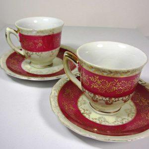 2 Porselen Fincan Seramik-Porselen Objeler Fincan
