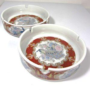 2 Adet Japon Porselen Küllük Seramik-Porselen Objeler Japon