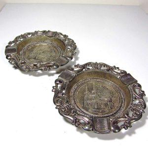 2 Adet İspanyol Küllük Metal Objeler İspanya