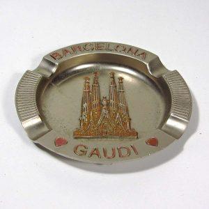 Barselona Hatırası Küllük Metal Objeler Barselona