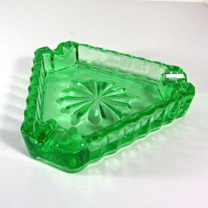 Yeşil Cam Küllük Cam-Taş Objeler Cam