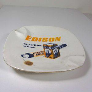 Edison Melamin Küllük Plastik-Polyester Objeler Ampul