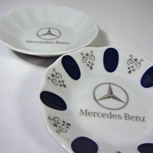 Mercedes Çay Tabağı Seramik-Porselen Objeler Çay
