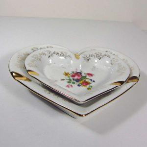 Kalp Şeklinde Küllük Seramik-Porselen Objeler Bernardo