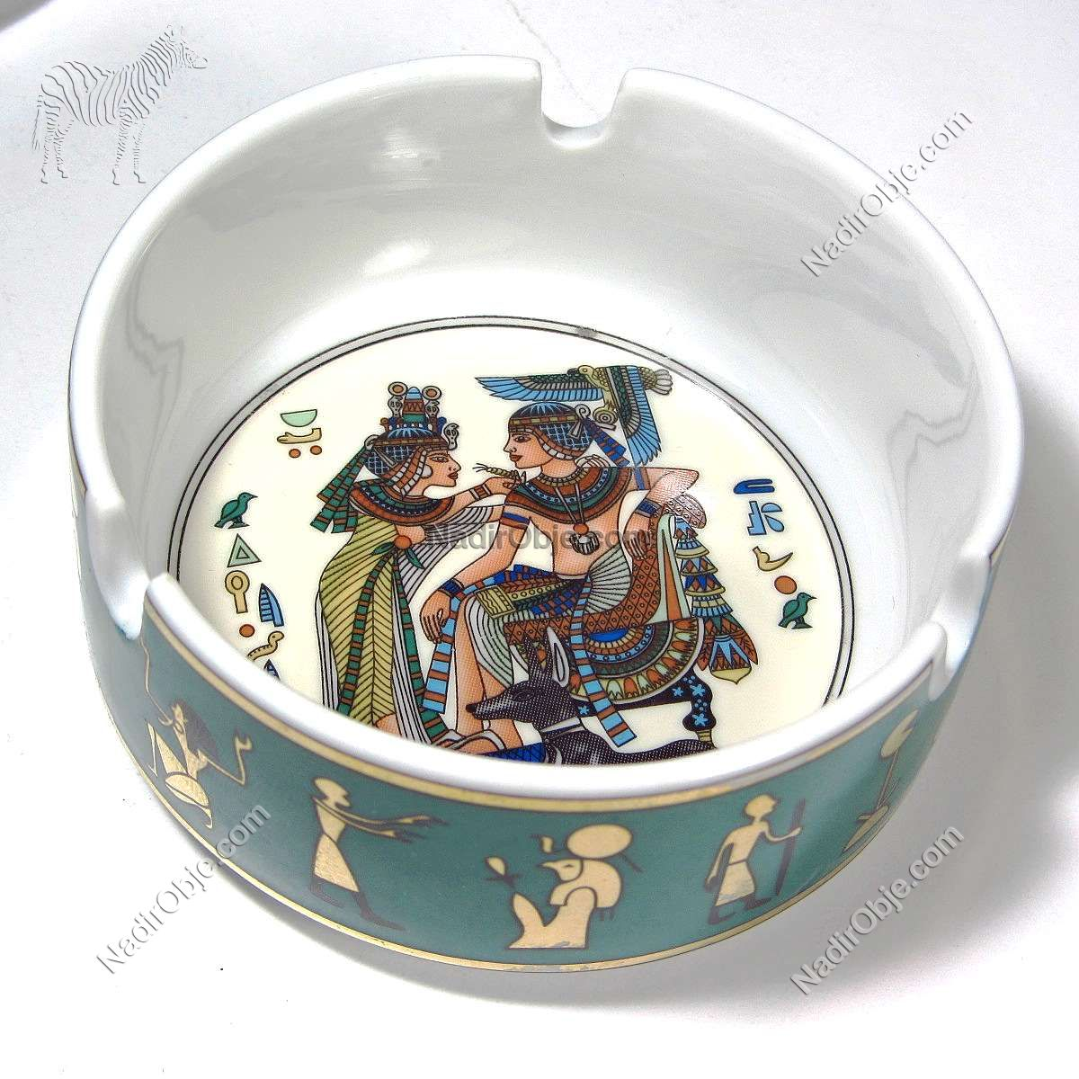 2 Adet Mısır Küllük Seramik-Porselen Objeler Egypt
