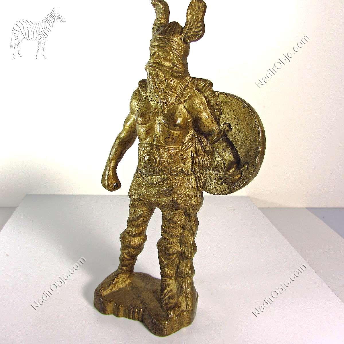 Savaşçı Figürü Metal Objeler Figür
