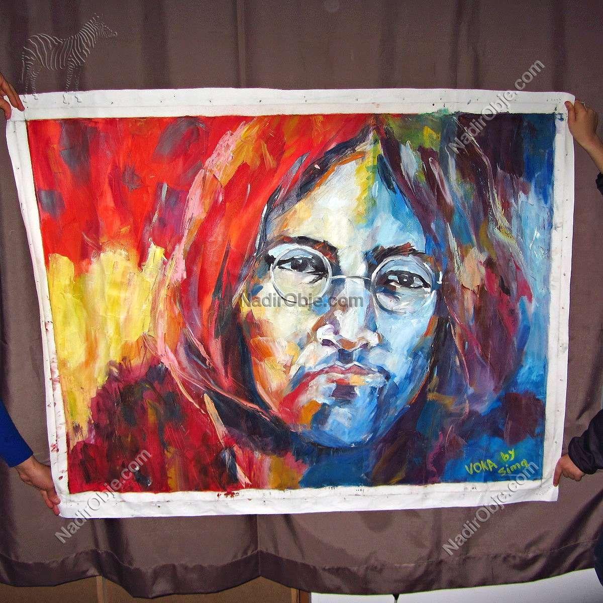 John Lennon Yağlı Boya Tablo (Voka by Sima) Diğer Objeler John Lennon