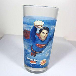Superman Temalı Bardak – N1891 Cam-Taş Objeler Bardak