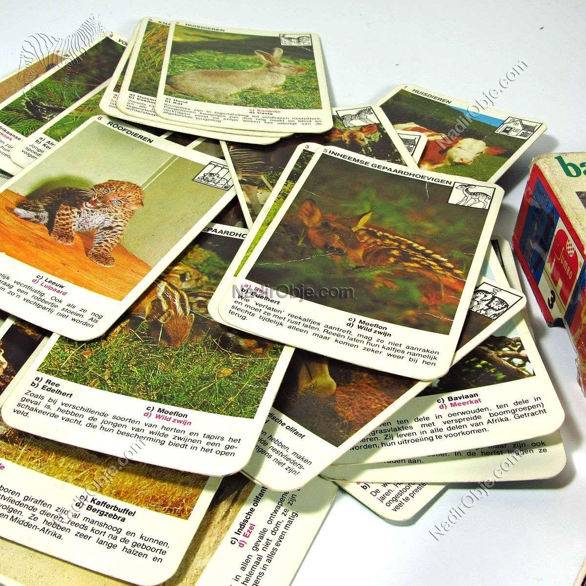 Vintage Hayvan Kartları – N1953 Diğer Objeler Baby Dieren
