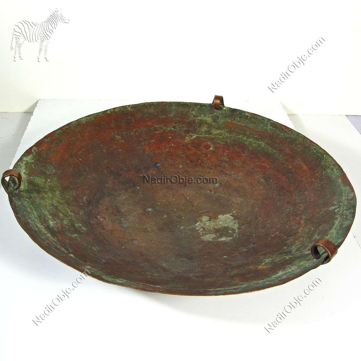 Çok Eski Bakır Terazi Kefesi – N1961 Metal Objeler Bakır