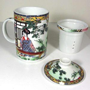 Porselen Demlikli Bardak – N1979 Seramik-Porselen Objeler Çay
