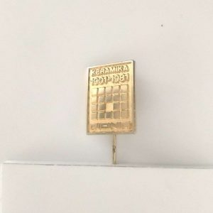 Pionir Keramika Rozet – N2044 Metal Objeler Lapel Badge