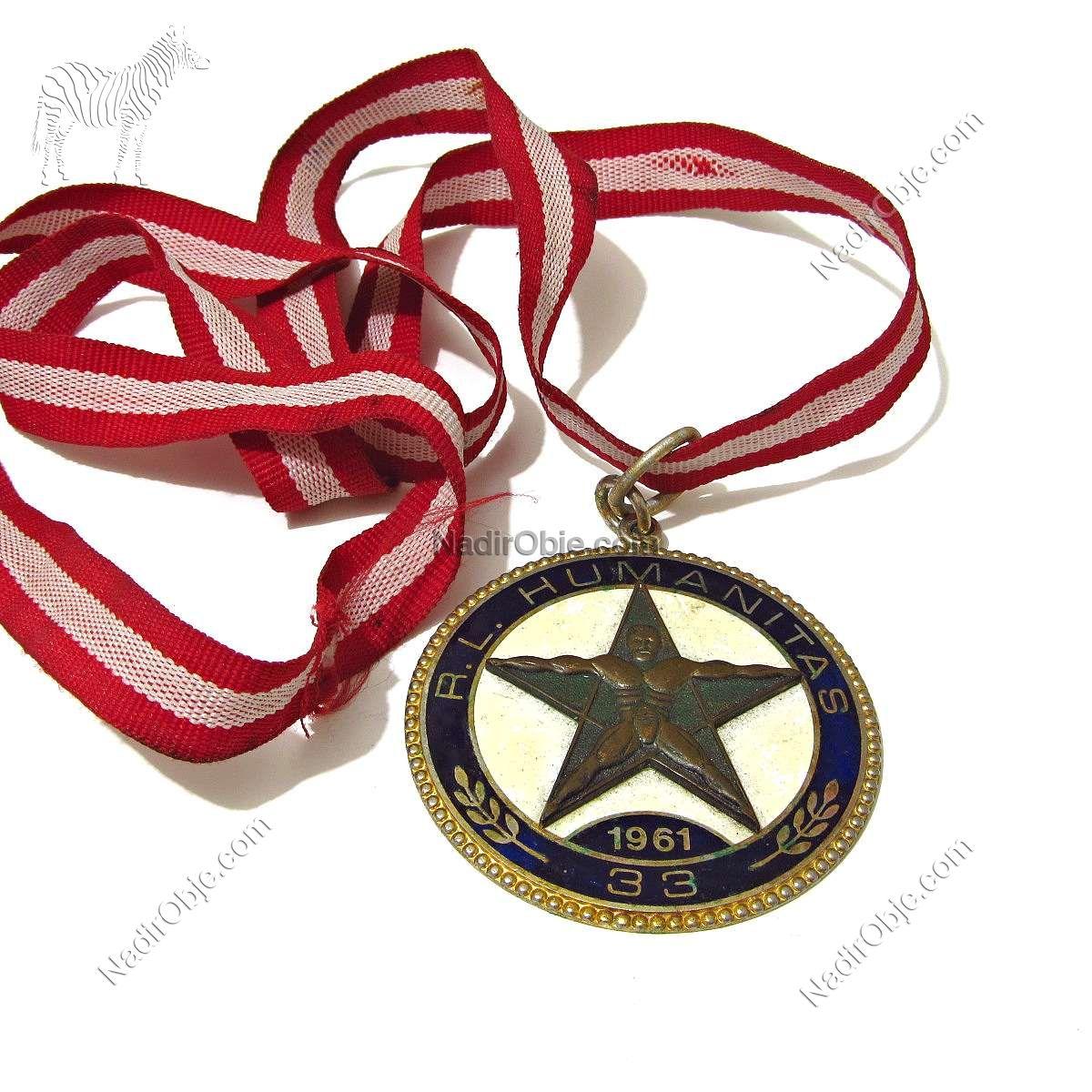 1961 Yılı 33.Derece Mason Madalyası Metal Objeler Madalya