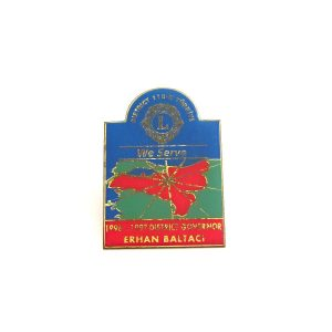 1996-1997 Lions Rozet – N2132 Metal Objeler Lapel Badge