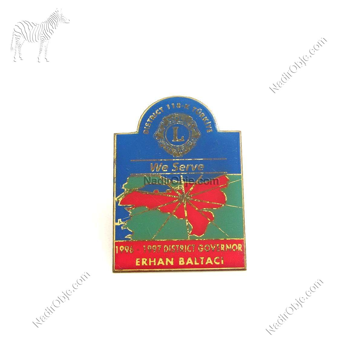 1996-1997 Lions Rozet – N2132 Metal Objeler Lapel Badge