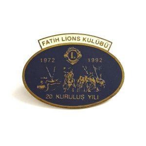 Fatih Lions Kulübü 1992 Rozet – N2136 Metal Objeler Lapel Badge