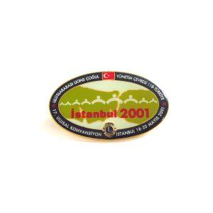 İstanbul 2001 Lions Rozet – N2137 Metal Objeler Lapel Badge