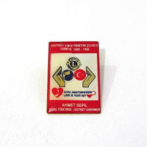 1995-1996 Lions Rozet – N2141 Metal Objeler Lapel Badge