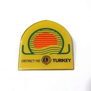 District 118 Lions Rozet – N2145 Metal Objeler Lapel Badge