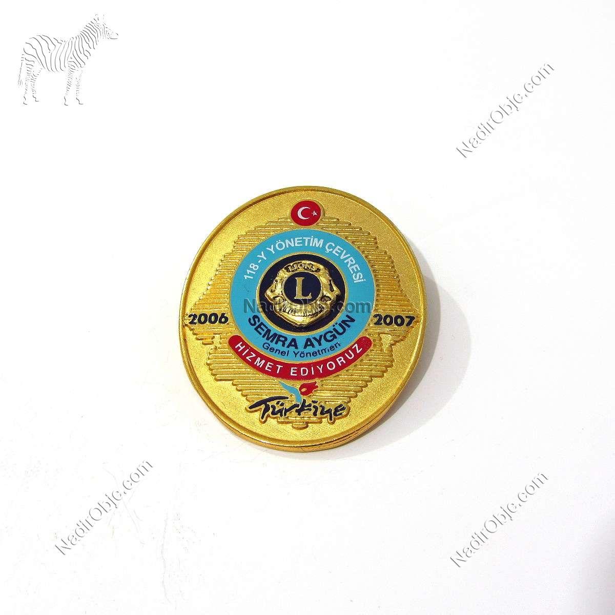 2006-2007 Lions Rozet – N2146 Metal Objeler Lapel Badge