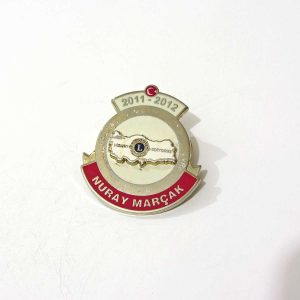 2011-2012 Lions Rozet – N2157 Metal Objeler Lapel Badge