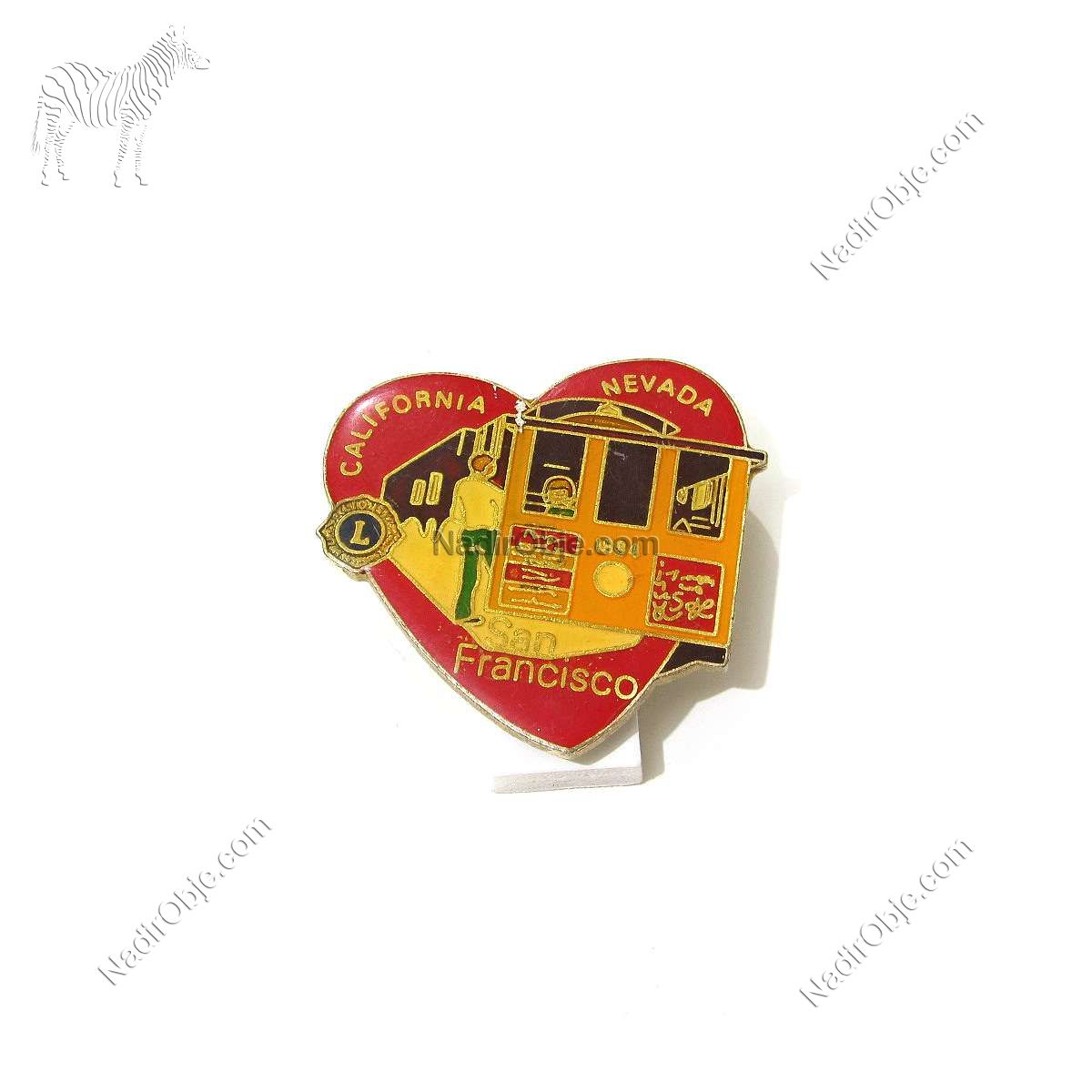 1984 Lions Rozet – N2180 Metal Objeler Lapel Badge