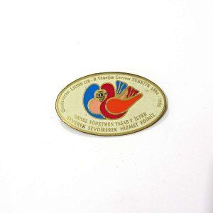 1994-1995 Lions Rozet – N2182 Metal Objeler Lapel Badge