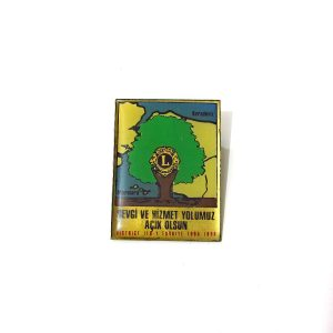 1995-1996 Lions Rozet – N2183 Metal Objeler Lapel Badge
