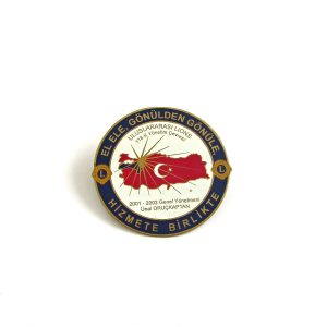 2001-2002 Lions Rozet – N2191 Metal Objeler Lapel Badge