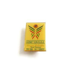 1997-1998 Lions Rozet – N2196 Metal Objeler Lapel Badge