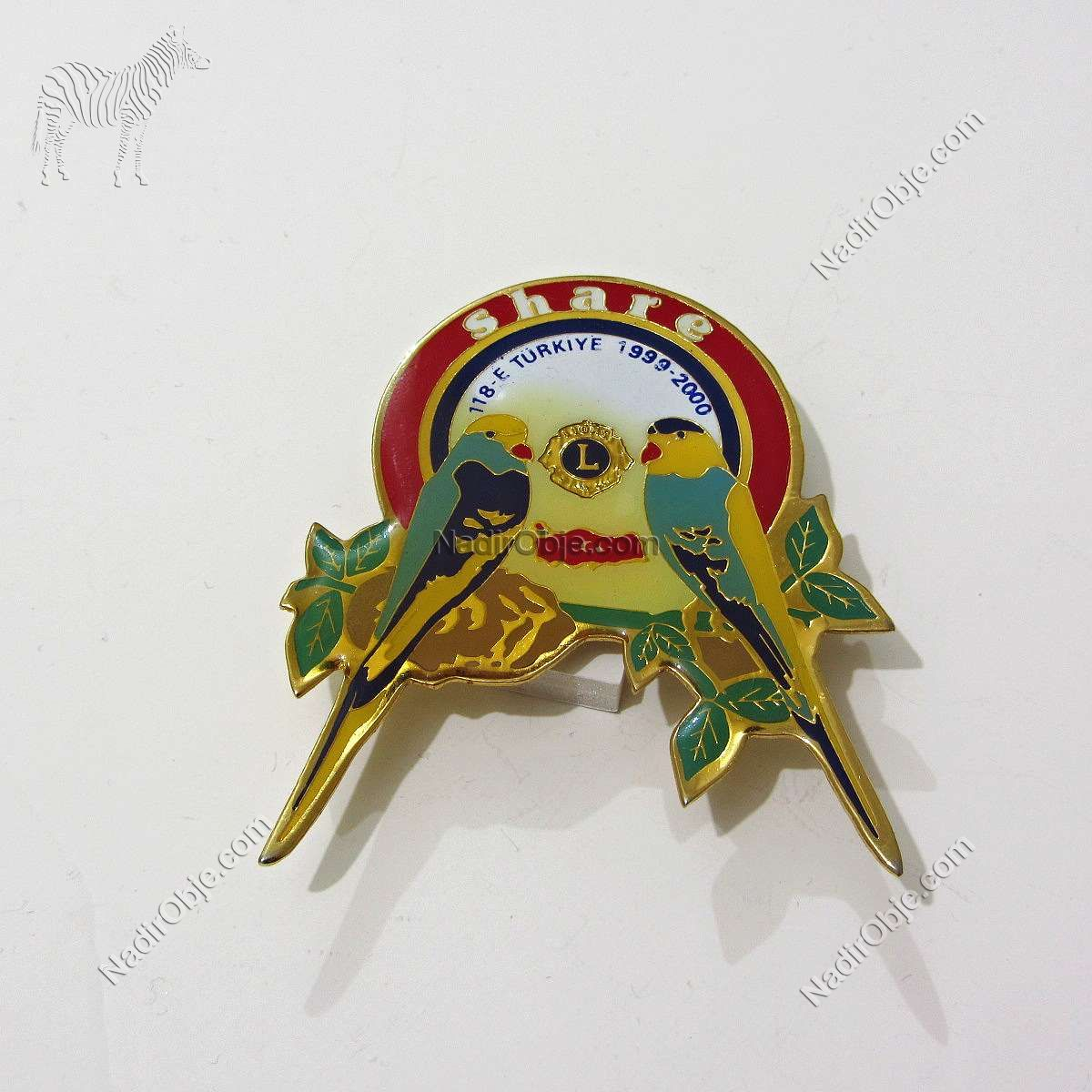 1999-2000 Lions Rozet – N2200 Metal Objeler Lapel Badge