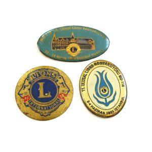 3 Adet Lions Rozet Metal Objeler Lapel Badge